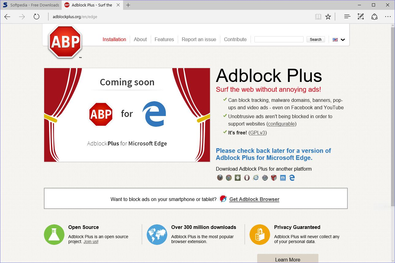 Microsoft Edge now equipped with Adblock and Adblock plus ...